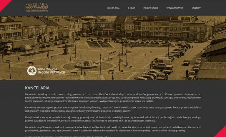 """Kancelaria Radcy Prawnego – strona www typu """"One page"""""""