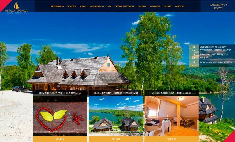 Hotel Ostoja Spokoju – responsywna strona www