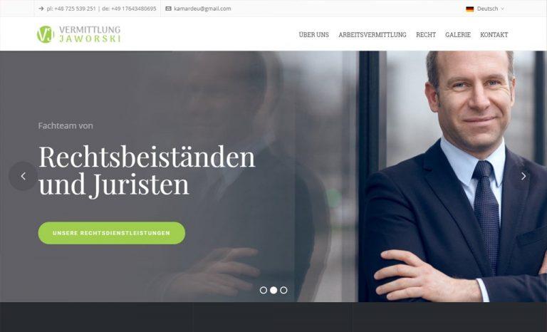 Vermittlung Jaworski – responsywna strona www (Rzeszów)