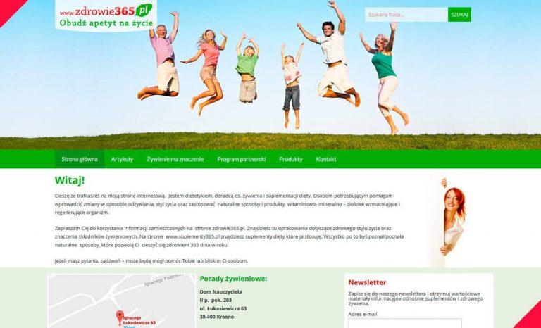 Zdrowie365.pl – responsywna strona www