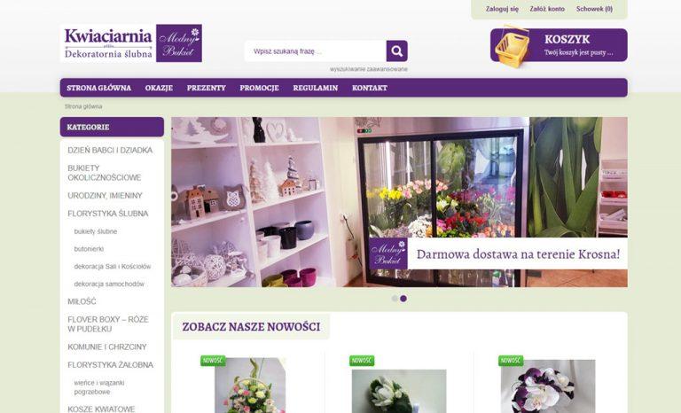"""Start projektu """"Kwiaciarnia Krosno"""" – sklep internetowy"""