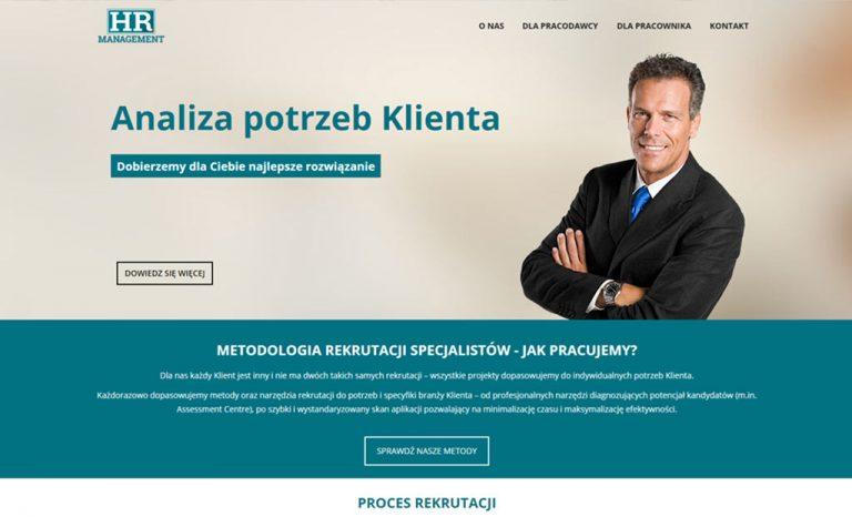 HR Management – mobilna strona internetowa (Warszawa)