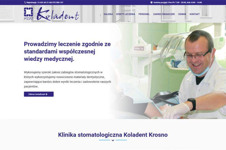 Strona mobilna dla kliniki stomatologicznej – Krosno