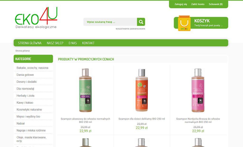 Delikatesy ekologiczne – Sklep internetowy Rzeszów