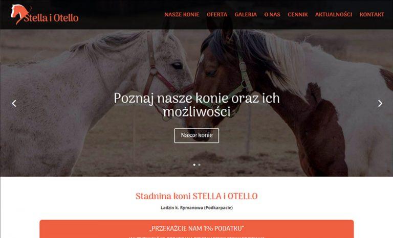 Responsywna strona www dla stadniny koni