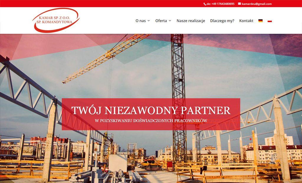 Strona www KAMAR – projektowanies stron Rzeszów