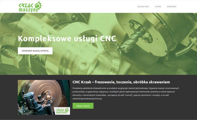 Firmowa strona www – usługi CNC
