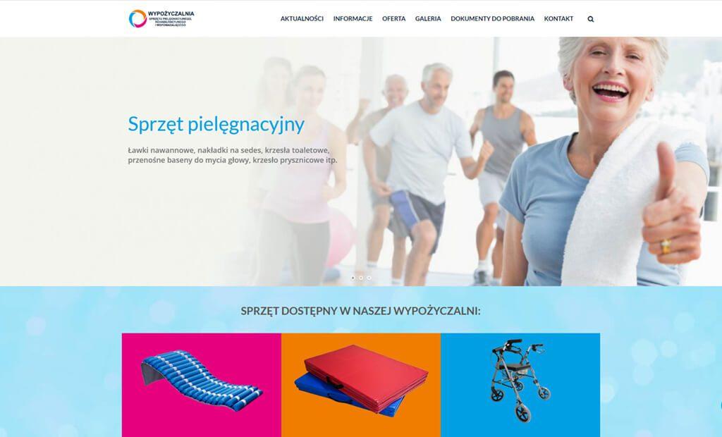 Strona www dla wypożyczalni – Krosno