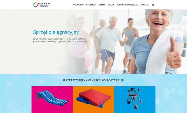 Strona www dla Wypożyczalni sprzętu – Krosno
