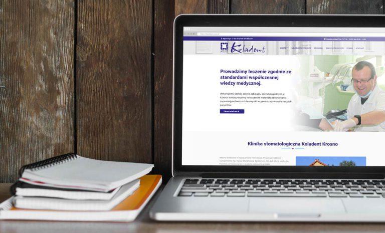 Mobilna strona www dla kliniki stomatologicznej