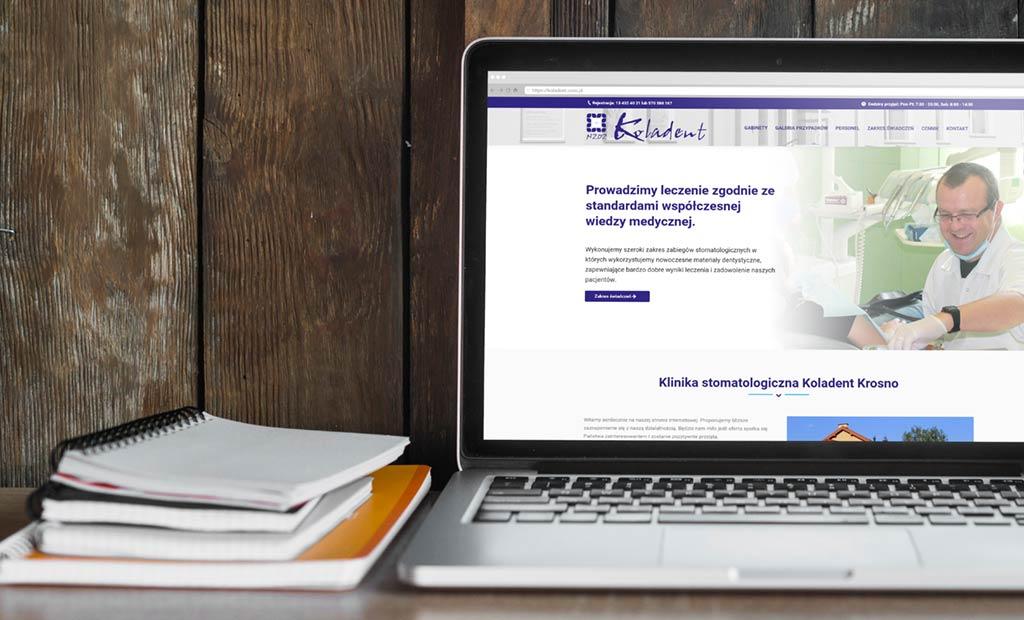 Strona www dla kliniki stomatologicznej - Krosno, Rzeszów