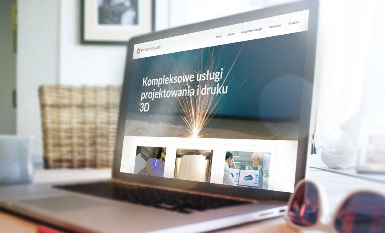 Nowoczesna strona internetowa dla firmy 3D Tech