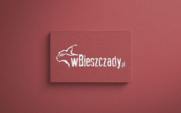 """Logo dla portalu informacyjnego """"w Bieszczady"""""""